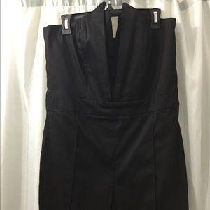 ASOS Pants - ASOS Sz 12 Black strapless Jumpsuit, peaked front